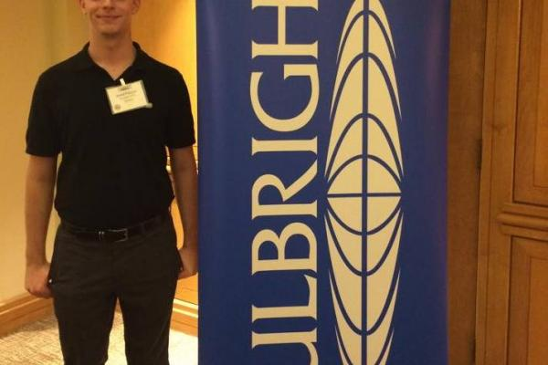 Jared Palazza at Fulbright orientation